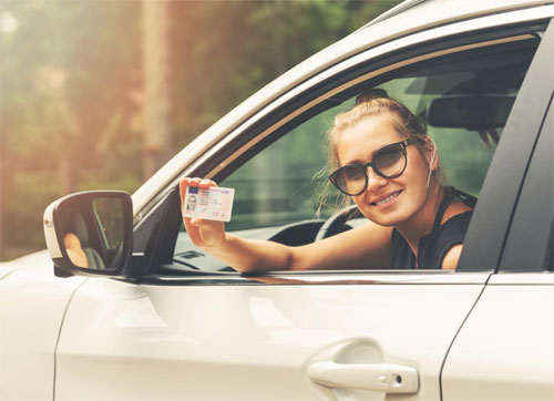 Woman received license after test driving